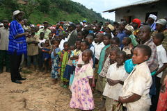 2nd Nov 2008. Refugees from DR Congo Royalty Free Stock Photo