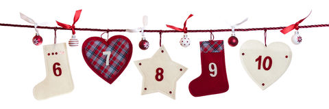 2nd part of advent calendar Royalty Free Stock Photo