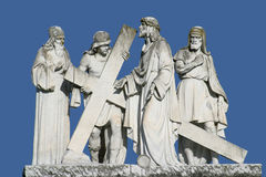 2nd Stations of the Cross, Jesus is given his cross Royalty Free Stock Photos