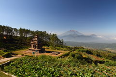 The 2nd Temple of Gedongsongo. Complex, Scenic Surrounding View Stock Photo