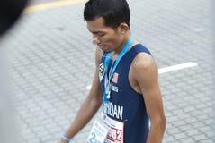2nd Winner of KL Marathon. Kuala Lumpur, June 26 : Mohd. Syahidan Alias from Malaysia winning the 10K challenge open category of Standard Chartered KL Marathon Royalty Free Stock Photo