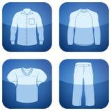 第2个衣物钴图标供以人员s三角板 免版税库存图片