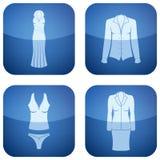第2名衣物钴图标s三角板妇女 免版税图库摄影