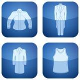 第2个衣物钴图标供以人员s三角板 库存照片
