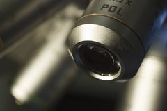 2x microscope lens. Wide-angle for the microscope Royalty Free Stock Photos