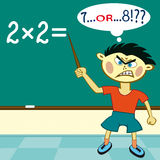 2x2. The pupil must solve a real grand challenge Royalty Free Stock Photography