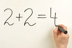 2x2=4 Immagine Stock