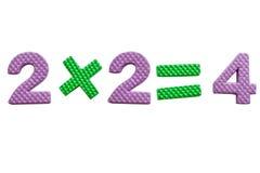 2x2, einfache mathematische Formel Lizenzfreies Stockfoto