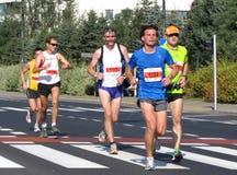 A 3á maratona de Varsóvia, setembro 25, 2011 Fotografia de Stock