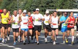 A 3á maratona de Varsóvia, setembro 25, 2011 Fotos de Stock Royalty Free