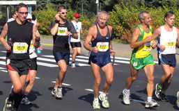 A 3á maratona de Varsóvia, setembro 25, 2011 Imagem de Stock