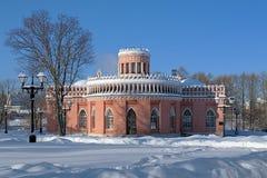 3ème Cavaliers construisant dans Tsaritsyno, Moscou Photo libre de droits