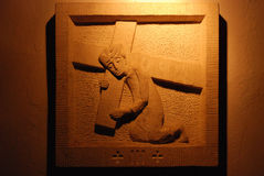 3ème Gares de la croix Images libres de droits