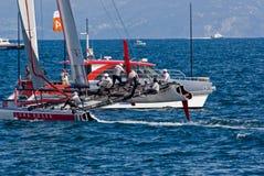 3ô Série de mundo 2012 do copo de América em Nápoles Fotografia de Stock