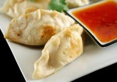 3个中国饺子 库存照片