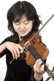 3个亚洲人小提琴手 图库摄影