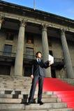 3个亚洲人行政精明的技术 免版税库存照片