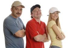 3个人微笑 库存图片