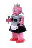 3个佣人机器人玩具葡萄酒 免版税图库摄影