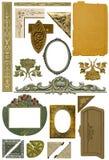3个古色古香的设计要素 免版税库存照片
