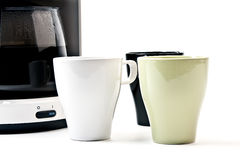 3个咖啡杯等待 库存照片