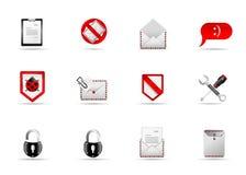 3个图标互联网melo集合网站 免版税库存照片