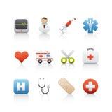 3个图标医疗药房集 免版税库存图片