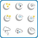 3个图标天气 库存照片