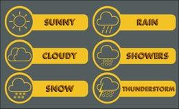 3个图标天气 免版税库存照片
