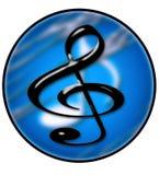 3个圈子创造性的音乐 库存图片