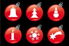 3个圣诞节图标冬天 免版税库存图片