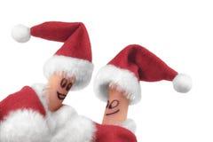 3个圣诞节手指显示 免版税库存照片