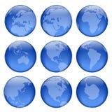 3个地球视图 皇族释放例证