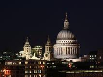 3个城市伦敦晚上场面 免版税库存图片