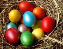 3个复活节彩蛋 库存照片