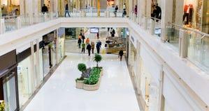 3个大厅全景购物 库存图片