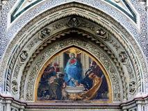 3个大教堂详细资料佛罗伦萨 库存照片