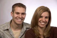 3个夫妇年轻人 图库摄影