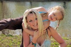 3个女儿母亲 免版税库存图片