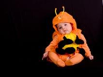 3个婴孩服装万圣节 免版税图库摄影