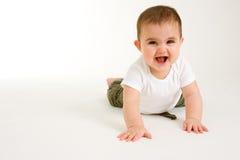 3个婴孩爬行 库存图片