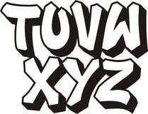 3个字体街道画零件 免版税库存图片