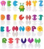 3个字母表查出的彩色塑泥 免版税库存图片