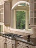 3个家厨房豪华模型白色 免版税库存图片