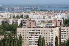 3个屋顶城镇 免版税库存照片