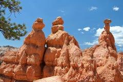 3个岩石塔 免版税库存照片