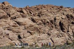 3个峡谷红色岩石 库存图片