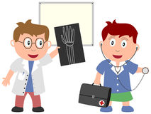3个工作孩子医学 库存照片