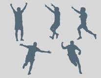 3个庆祝形象足球向量 免版税库存照片