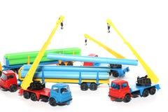 3个建筑玩具工作 免版税图库摄影